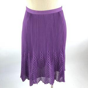 REISS Womens Midi Knife Pleated Skirt